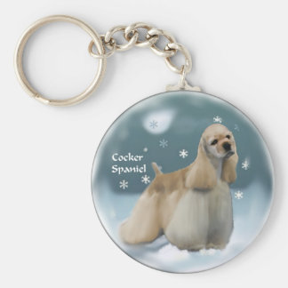 Cocker Spaniel Christmas Gifts Keychain