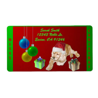 Cocker Spaniel Christmas Label