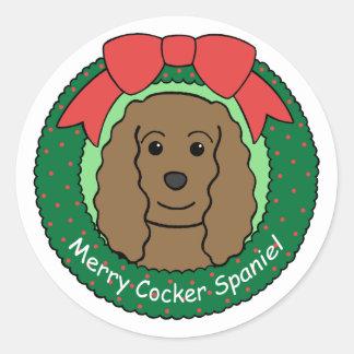 Cocker Spaniel Christmas Sticker