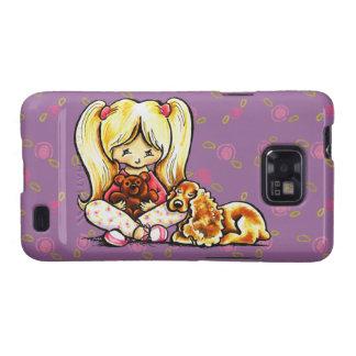 Cocker Spaniel Comforter Off-Leash Art™ Child Art Samsung Galaxy S2 Case