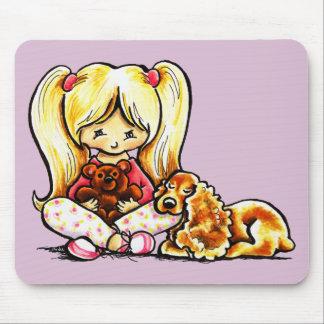 Cocker Spaniel Comforter Off-Leash Art™ Child Art Mouse Pad