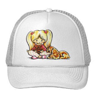 Cocker Spaniel Comforter Off-Leash Art™ Child Art Trucker Hat