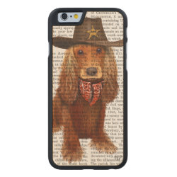 Carved ® iPhone 6 Bumper Wood Case with Cocker Spaniel Phone Cases design