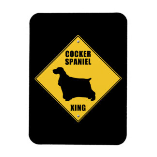 Cocker Spaniel Crossing (XING) Sign Rectangular Photo Magnet