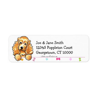 Cocker Spaniel Cute Dangles Label
