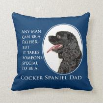 Cocker Spaniel Dad Pillow