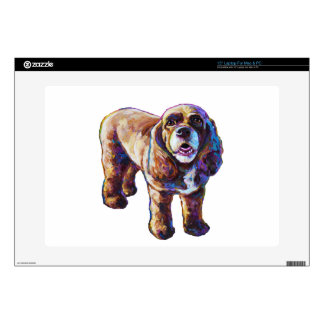 "Cocker Spaniel Decals For 15"" Laptops"