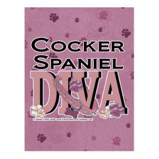 Cocker Spaniel DIVA Postcard