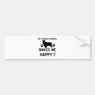 Cocker Spaniel dog designs Bumper Stickers