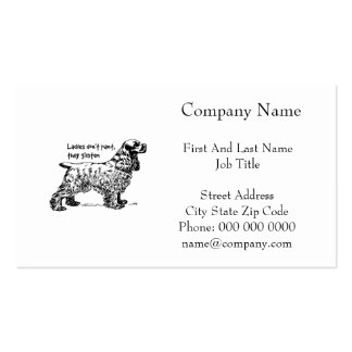 Cocker Spaniel Dog Lady Pet Business Card