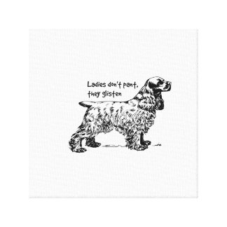 Cocker Spaniel Dog Lady Pet Gallery Wrap Canvas