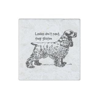 Cocker Spaniel Dog Lady Pet Stone Magnet