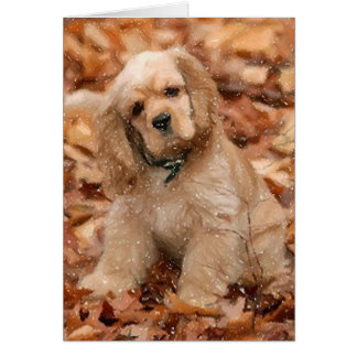 Cocker Spaniel Dog Portrait Blank Greeting Card