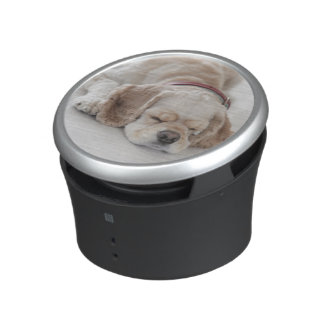 Cocker spaniel dog sleeping bluetooth speaker