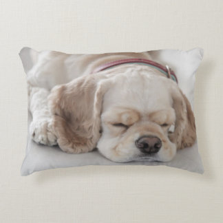 Cocker spaniel dog sleeping decorative pillow
