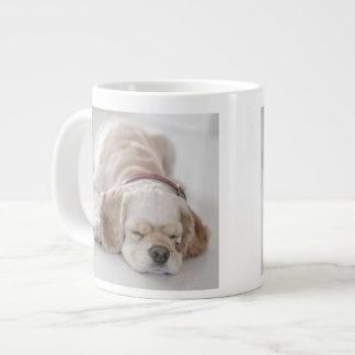 Cocker spaniel dog sleeping giant coffee mug