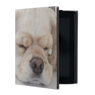 Cocker spaniel dog sleeping iPad case
