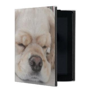 Cocker spaniel dog sleeping iPad covers