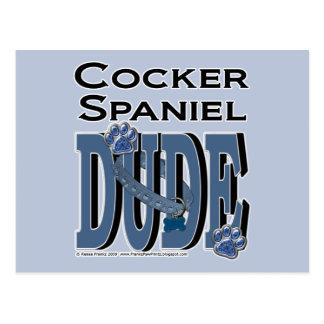 Cocker Spaniel DUDE Postcard