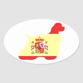 cocker spaniel flag silhouette sticker