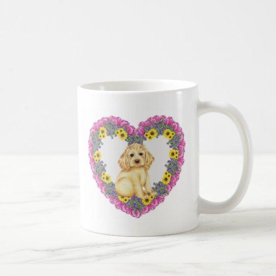 Cocker Spaniel Floral Coffee Mug