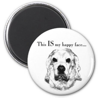 Cocker Spaniel Happy Face 2 Inch Round Magnet