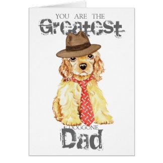 Cocker Spaniel Heart Dad Card