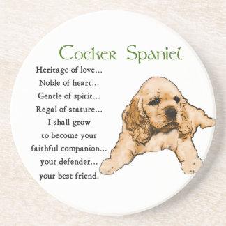 Cocker Spaniel Heritage of Love Beverage Coasters