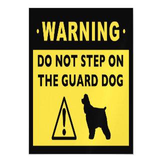 Cocker Spaniel Humorous Guard Dog Warning Magnetic Card