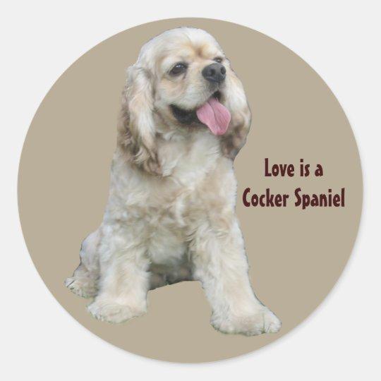 Cocker Spaniel Irresistible Sticker