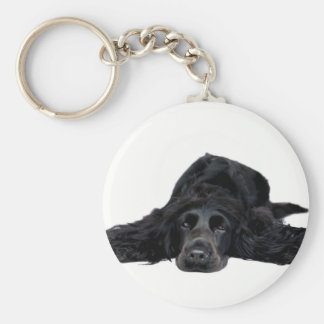 Cocker Spaniel Basic Round Button Keychain
