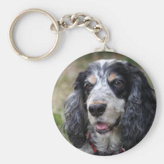 cocker spaniel keychain, gift idea basic round button keychain