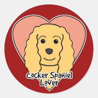 Cocker Spaniel Lover Round Sticker