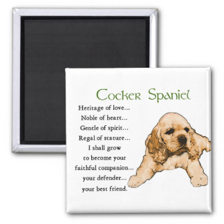 Cocker Spaniel Lovers Gifts 2 Inch Square Magnet