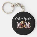 cocker spaniel mom Keychain