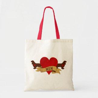 Cocker Spaniel Mom [Tattoo style] Tote Bag