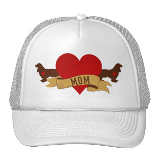 Cocker Spaniel Mom [Tattoo style] Trucker Hat