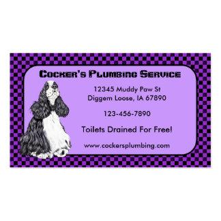 Cocker' Spaniel Parti Business Cards