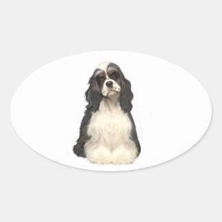 Cocker Spaniel - parti colored Oval Sticker