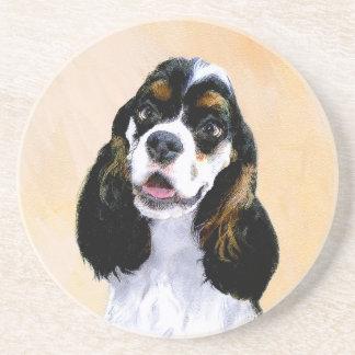 Cocker Spaniel (Parti) Painting - Original Dog Art Coaster