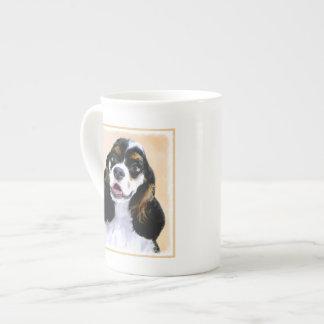 Cocker Spaniel (Parti) Painting - Original Dog Art Tea Cup