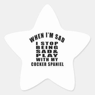 COCKER SPANIEL.png Pegatina En Forma De Estrella