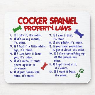 COCKER SPANIEL Property Laws 2 Mouse Pad