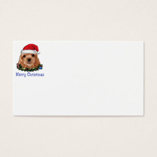 Cocker spaniel puppie christmas business card
