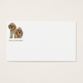Cocker spaniel puppies business card