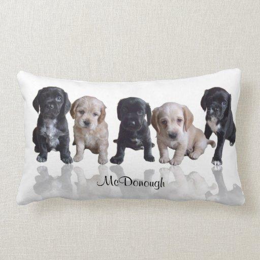 Cocker Spaniel Puppies Throw Pillows
