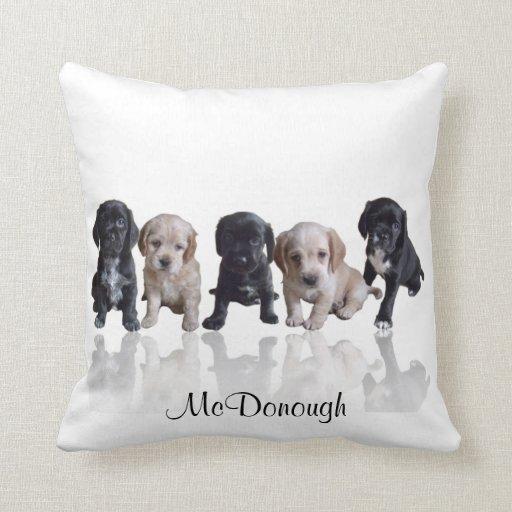 Cocker Spaniel Puppies Pillows