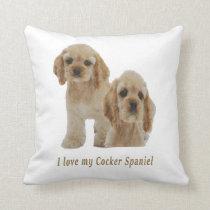 Cocker spaniel puppies throw pillow