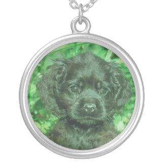 Cocker Spaniel Puppy Black Necklace