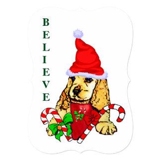 Cocker Spaniel Puppy Christmas Card